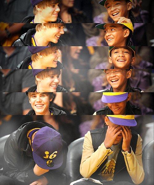 _ Flash back du 26 Octobre 2010 : Jaden et Justin sont allés voir un math de Basket qui opposait les Lakers de Los Angeles aux Rockets de Houston.  _