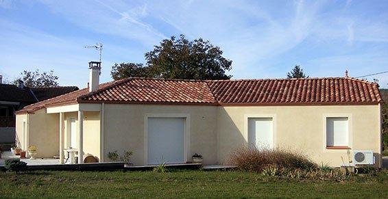 New maison vue extérieur