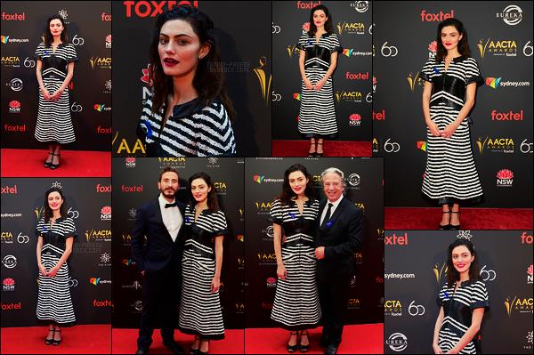 05/12/18 - L'actrice Phoebe Tonkin était présente sur le tapis des Aacta Awards   organisés dans Sydney ! Encore une fois, je ne suis pas emballée par la tenue, les chaussures ne vont pas vraiment ni le bas de la robe ..., c'est assez dommage !
