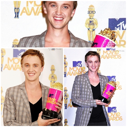 Tom a remporté l'award du meilleur méchant au MTV Movie Awards 2010!