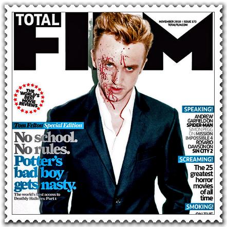 Tom Felton en première page du Magazine Total Film