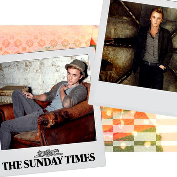 Tom Felton pour le magasine Sunday Times