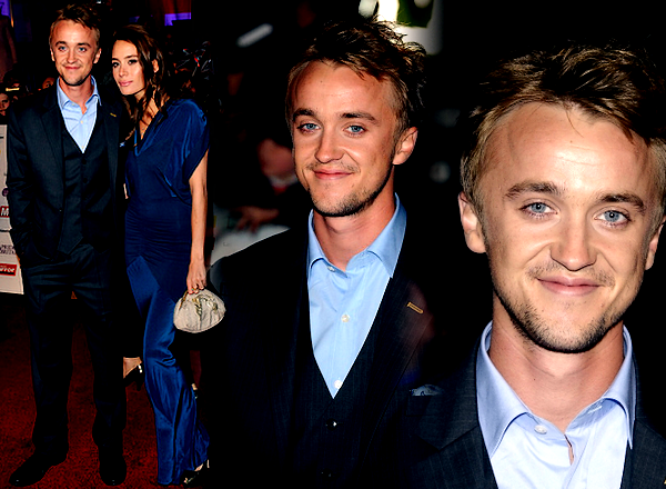 "Tom Felton sur le tapis rouge du ""Pride of Britain Award"""