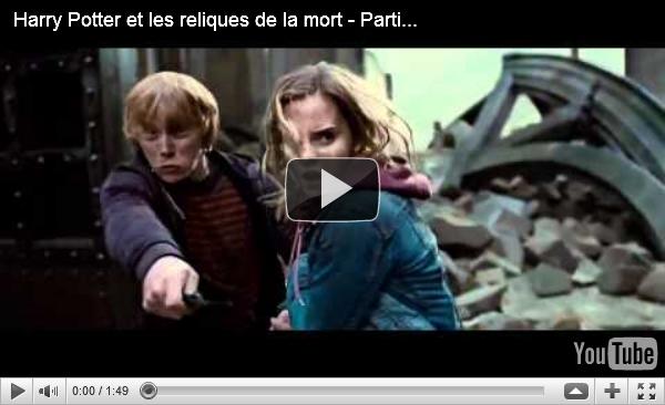 Bande Annonce Harry Potter et les Reliques de la Mort (PARTIE 2)