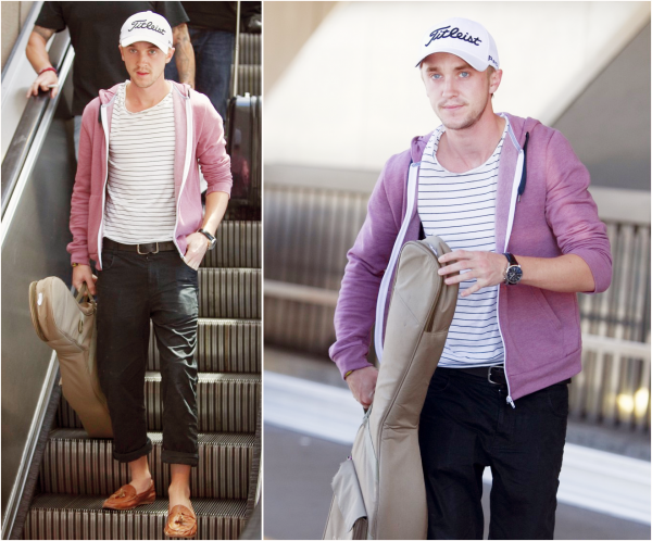 Tom Felton à l'aéroport LAX