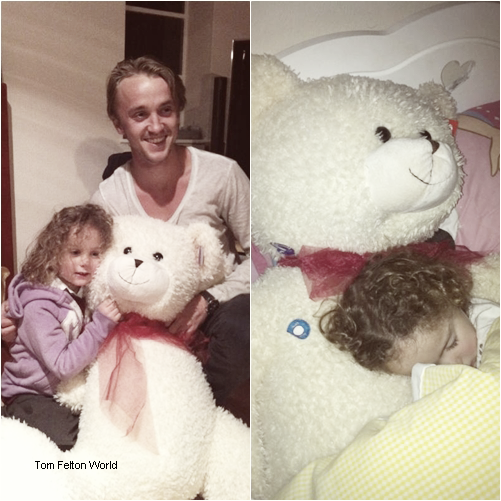 Chis Felton postant une photo de son petit frère Tom Felton avec sa nièce