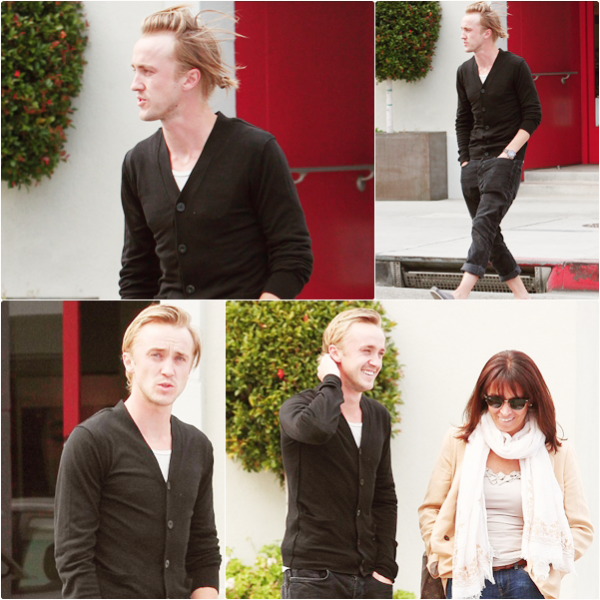 Tom Felton et Jade avec les parents de Jade à Beverly Hills