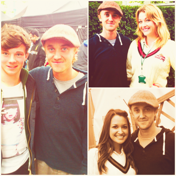 Tom Felton au Lord's Cricket à Londres