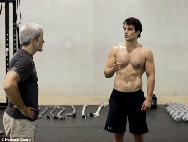 Henry Cavill training video
