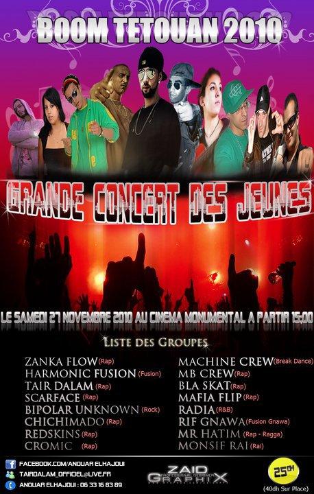 Scarface en concert a tetouane