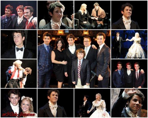 """Première de Nick dans """"Les Miserables"""" à Londres le 21.06"""