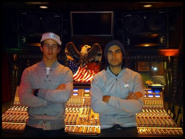 Nick en studio avec Greg Garbowsky le 24.01