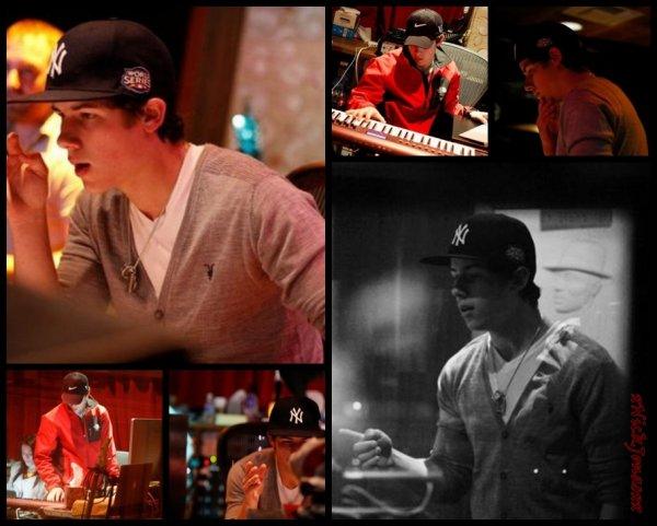 Nick en studio :)