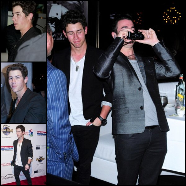 Nick et Kevin au Jason Taylor Celebrity Golf Classic Kick Off Party le 27.02