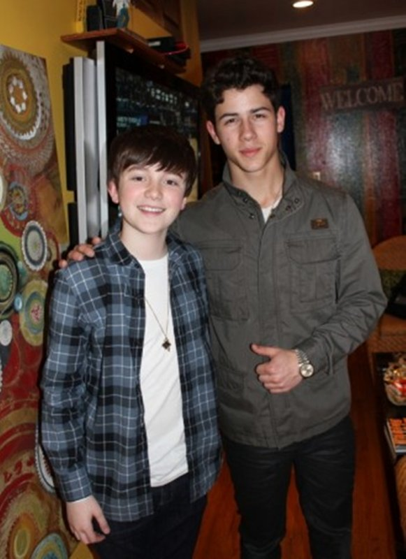Nick et Greyson Chance en studio