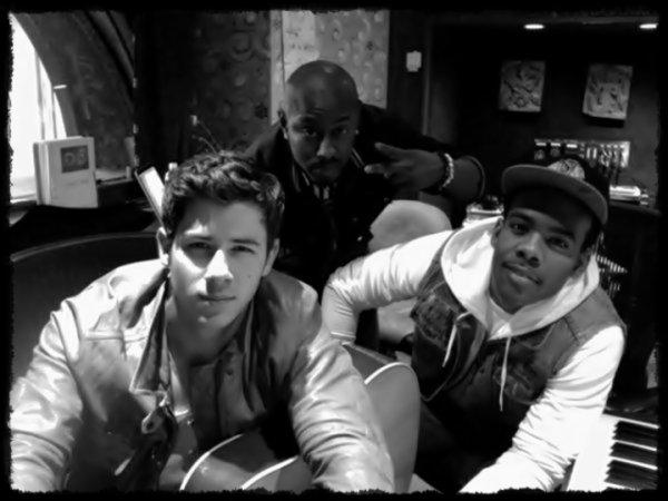 Mario et Yonny en studio avec Nick le 14.05