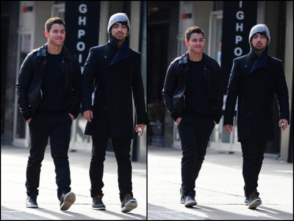 04.11.2012 Nick & Joe dans les rues de New York