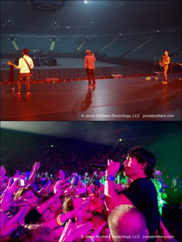 Photos officiels du concert du Jonas Brothers à St Petersbourg en Russie le 06.11.2012