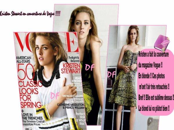 Kristen Stewart dans Vogue !!!!