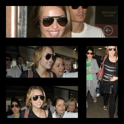 08.09.10 Miley à l'aéroport LAX
