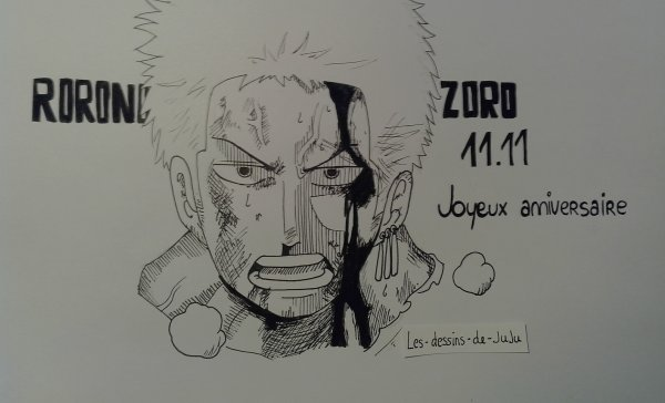 Happy Birthday Zoro (/°/3/°/)