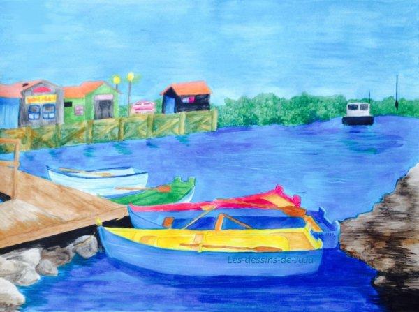 Peinture d'un port~