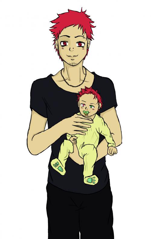 Keishi et son Papa