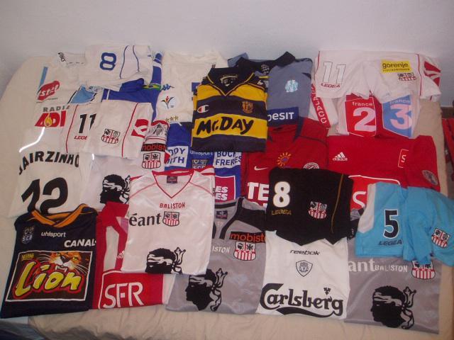 Ma collection de maillots de foot portés par les joueurs professionels...