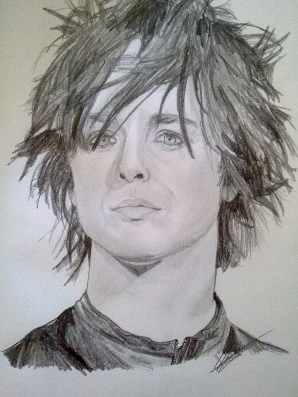 portrait Billie Joe Armstrong, green day