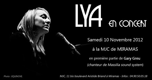 Concert lya a 20h le 10 novembre