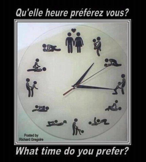 quelle heure préfère tu?