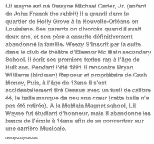 L'enfance de Lil Wayne