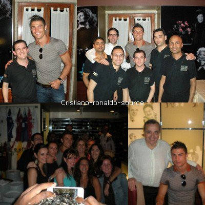 "Cristiano Ronaldo & des fans au restaurant ""Solar"""