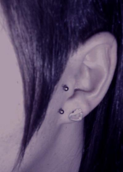 Mon piercing.