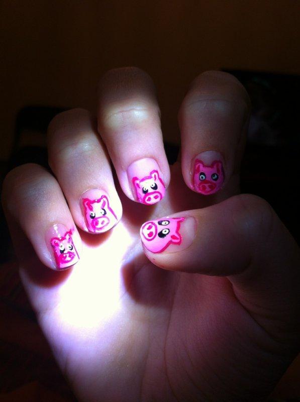 Nail art Cochon