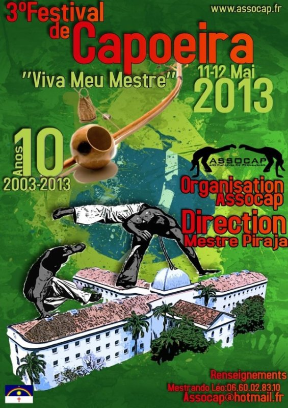 3ème Festival de Capoeira a Nice le 10-11 et 12 mai 2013