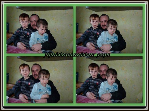 (l) (l) (l) (l) petite foto de mes fils juju&lorenzo et leur papa(l) (l) (l) (l)