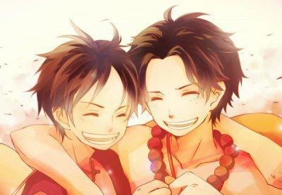 Ace et Luffy