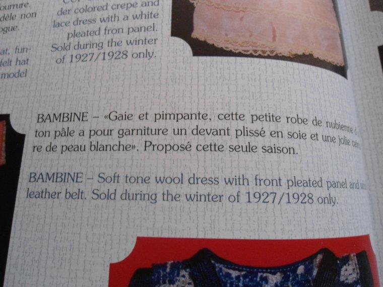 Modèle Bambine pour Bleuette !