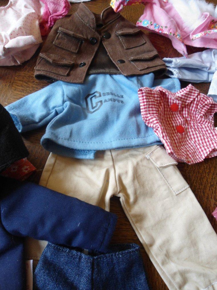 des vêtements en pagaille !