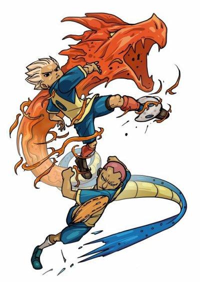 Kevin et Axel qui fond tornade  du dragan