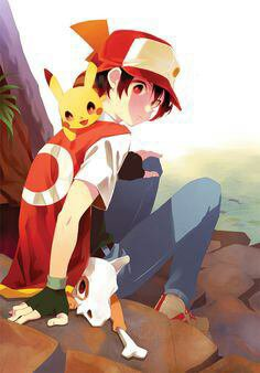 Red et sacha pokemon