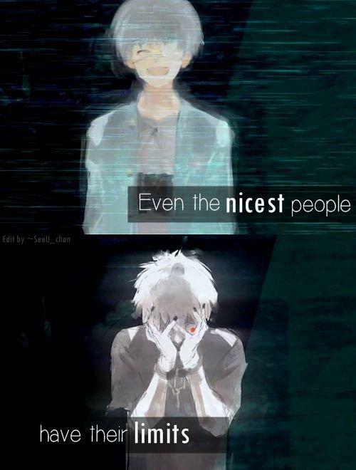 Même la personne la plus gentille a ces limites
