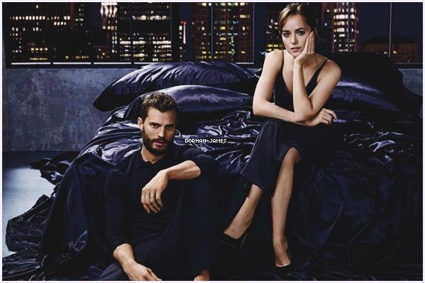""""""" ● ● Découvrez une toute nouvelle photo pour la promotion de Fifty Shades Darker . J'adore cette photo , et je suis tellement impatiente de voir la suite de la saga qui sortira au cinéma le 7 février 2018 en France."""""""