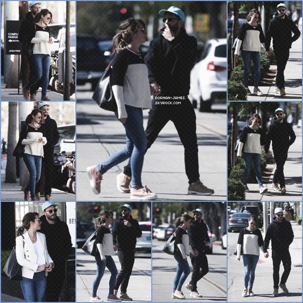 . 23/02/18.─ Jamie et sa femme Amélia ont étaient vus dans Los Angeles faisant du shopping. J'aime bien la tenue de Jamie, toujours décontracter mais toujours aussi classe! Amélia a beaucoup de chances! TOP .