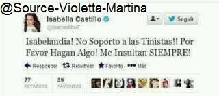 Isabella Castillo insulte les Tinistas !!