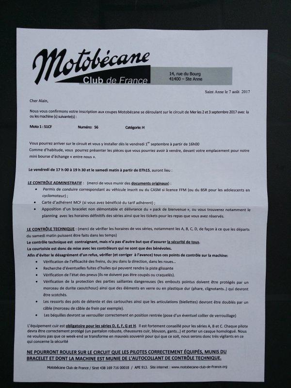 Inscription coupe motobecane reçu !