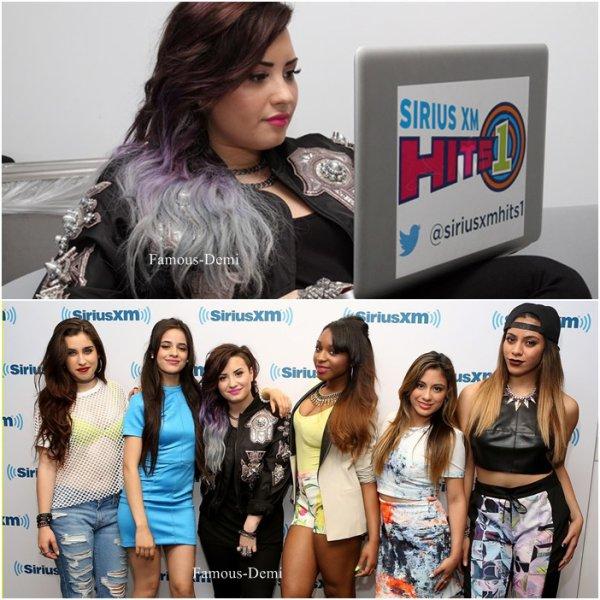 06 juin 2014 | Candid |Demi a chanté dans l'émmission Good Morning America à Central Park puis c'est rendu dans les studio de la radio Sirius XM Hits 1._