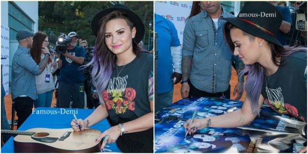 16 juin 2014 | Candid |Demi a chanté à My Big Night Out