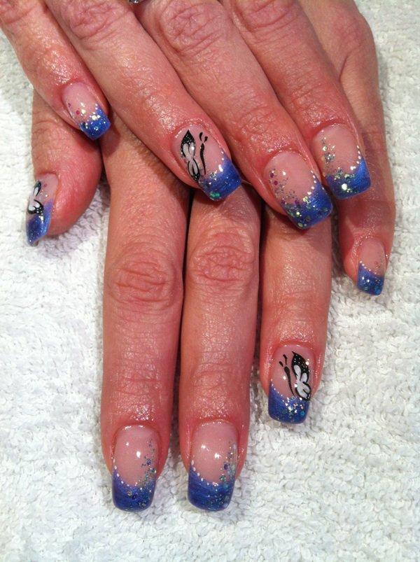 French bleu avec papillon !!
